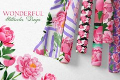 Bouquet of pink peony moment of joy watercolor png Product Image 6