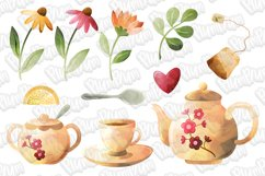 Tea Time Watercolor Cliparts Product Image 2