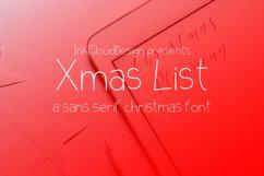 Xmas List Regular - A festive Christmas sans serif font ! Product Image 1