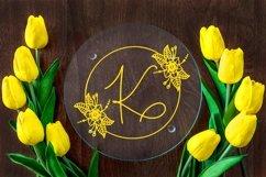 Web Font Floral Spring Monogram Product Image 2