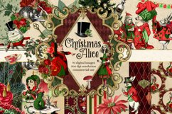 Christmas Alice In Wonderland Clipart Product Image 1
