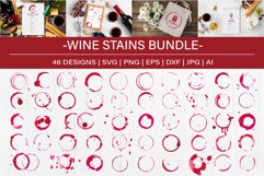 Watercolor Wine Stains, Rings and Splashes Clipart Product Image 1