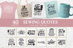 40 Sewing Quotes svg Bundle dxf eps png - sewing machine svg Product Image 1