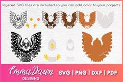 EARL THE EAGLE SVG ZENTANGLE MANDALA DESIGN Product Image 3