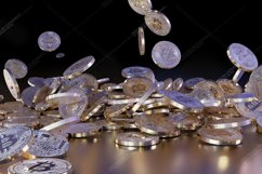 6  files - 3D rendering Bitcoins falling on a pile Product Image 3