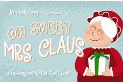 Oh Sweet Mrs. Claus Font Duo Product Image 1