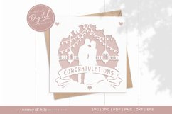 Congratulations Wedding Card SVG for Cricut and Silhouette Product Image 1