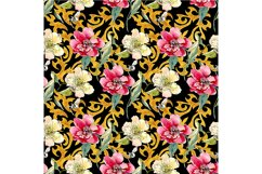 Oriental pattern on a black background Product Image 1
