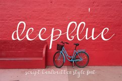 deep blue script handwritten font Product Image 1