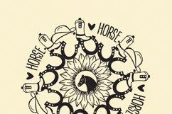 Horse mandala with sunflower, Bundles, SVG files, Product Image 3