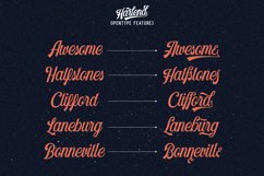 Harlend 6 fonts with extras intro Product Image 4