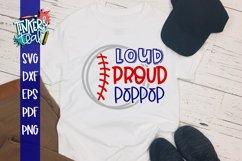 Loud Proud Baseball Softball Poppop SVG Product Image 1
