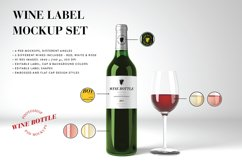 Wine Mockup Set - Photoshop PSD Product Image 1