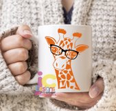 Giraffe in glasses svg, Cute Funny Kids Mother svg clip art Product Image 2