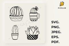 Cactus set - Cactus plant - Cactus clip art - House plants Product Image 1