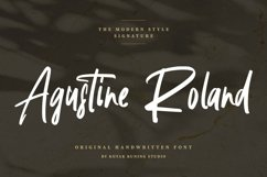 Handwritten Signature - Agustine Roland Font Product Image 1