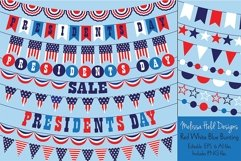 Presidents Day Bunting Clipart Product Image 1
