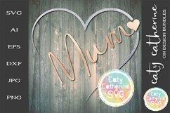 Mum Remembrance Heart SVG Cut File Product Image 1