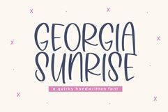 Georgia Sunrise - A Fun Handwritten Font Product Image 1
