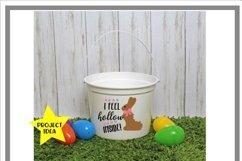 White Easter Bucket Mock Up Mockup Product Image 2