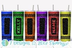 Skinny Tumbler Sublimation Design - Glitter Crayon Tumblers Product Image 1