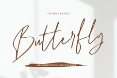 Butterfly - A Handwritten Signature Font Product Image 1