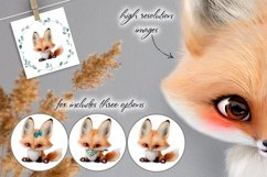 Baby fox clip art set, PNG, PSD Product Image 2
