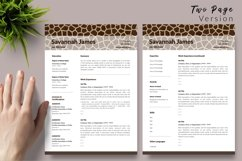 Animal Care Resume Template for Word & Pages Savannah James Product Image 3