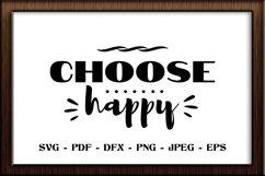 Choose happy SVG cut file Product Image 1