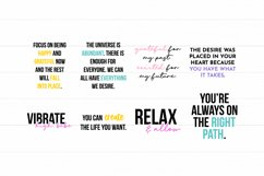 Law Of Attraction Quote SVG Bundle - Colorful Version Product Image 6