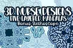 3D Nurse Mandala Bundle - A Fun Layered Set for Cutting! Product Image 1