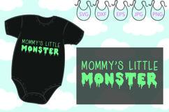 Mommy's Little Monster SVG, Funny Onesie, Little Monster Product Image 2