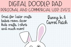 Easter Bunny Rabbit In a Carrot Patch SVG Cut File Product Image 2