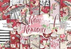 Rain Romance digital paper pack Product Image 1