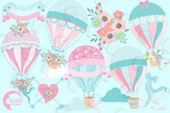Hot Air Balloons, graphic, illustration, clipart AMB-1388  Product Image 5