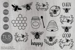 Bee SVG Bundle, Bumble bee SVG, Bees SVG, Bee SVG Product Image 1