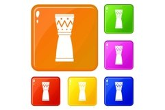 Tamtam icons set vector color Product Image 1