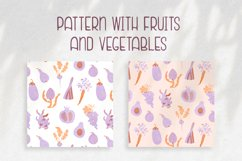 Pattern with fruits & vegetables Product Image 1