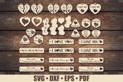 Love Keychains SVG Bundle Glowforge, Key Fob SVG design Product Image 1
