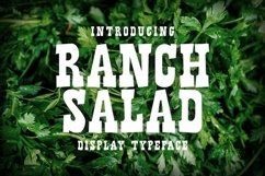 Rancy Salad Display Typeface Product Image 1