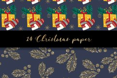 Christmas digital paper pattern Product Image 5