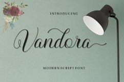 Vandora Font Script Product Image 1