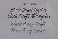 Black Script SVG Bold Brush Font Product Image 2