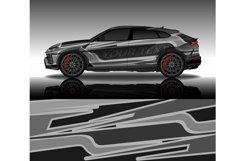 Wrap car decal design vector, custom livery race rally car Product Image 1