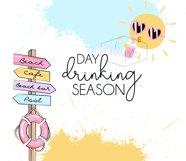 Day Drinking Season | 20oz Tumbler |Summer Sublimation Product Image 2
