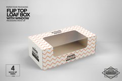 Flip Top Loaf Box Packaging Mockup Product Image 2