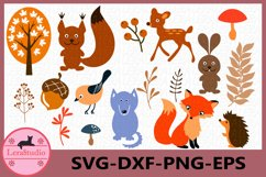 Forest Animals Svg, Woodland Animals Frames SVG, Animal Svg Product Image 1