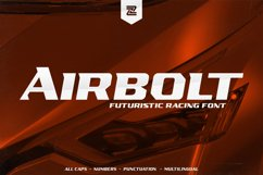 AIRBOLT - FUTURISTIC RACING FONT Product Image 1