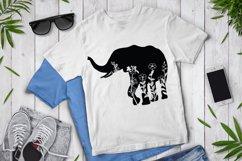 Floral Elephant SVG Cut Files. Floral Elephant Clipart. Product Image 2