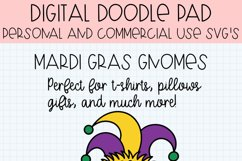 Mardi Gras Gnomes SVG Cut Files for Cricut and Silhouette Product Image 6